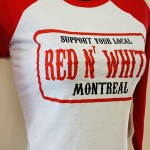 HMW-030 / RAGLAND 3/4 / RED AND WHITE